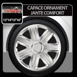 Capace ornament jante Comfort 4buc - Argintiu - 14' - CRD-VER1402+C - Capace Roti