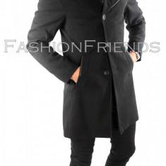 Palton tip ZARA gri - palton barbati - palton slim fit - cod 5757, Marime: S, M, L, XL, Culoare: Din imagine