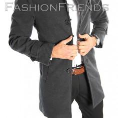 Palton tip ZARA gri - palton barbati - palton slim fit - cod 2215, Marime: M, L, XL, Culoare: Din imagine