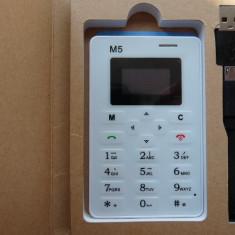 Telefon mobil AIEK M5 - extrem de mic, cel mai mic din lume Nou, cutie, Alb, Nu se aplica, Neblocat, Single core