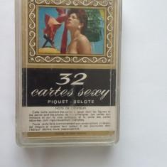 CARTI DE JOC SEXY 32 CARTES SEXY Piquet - Belote, ANII 70 .STARE FOARTE BUNA . - Carti poker