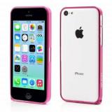 Husa bumper metal roz trandafiriu (MHC) pentru telefon Apple