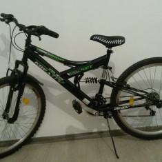 Bicicleta DHS pentru copii cu varsta 12 ani + - Mountain Bike DHS, 18 inch, 26 inch, Numar viteze: 9