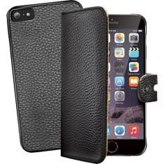 Husa Flip Cover Celly 102208 Ambo neagra plus capac spate detasabil pentru Apple iPhone 6 Plus - Husa Telefon
