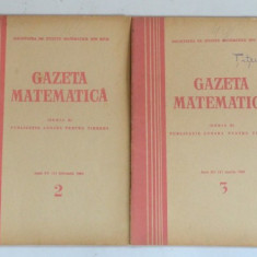 Gazeta matematica 1964 Nr. 1, 2, 3, 4, 5, 6, 7, 8, 9, 11, 12 - Culegere Matematica