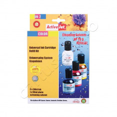 Kit universal de refill cerneala Color - Kit refill imprimanta ActiveJet