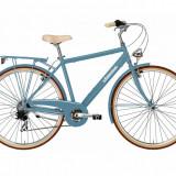 Bicicleta Oras pentru Barbati, Adriatica, City Retro Man, Albastru Deschis, 2016 Adriatica