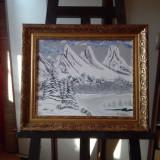 Tablou pe panza in ulei deosebit - Pictor roman, Peisaje, Impresionism