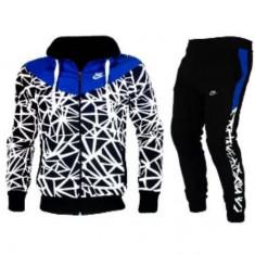 Trening Nike BARBATI albastru GROS. Model NOU 2016 - Trening barbati Nike, Marime: S, M, L, XL, XXL, Culoare: Din imagine, Bumbac