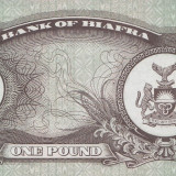 BIAFRA 1 pound 1968 UNC - bancnota africa, An: 1969