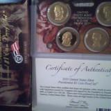 Monede de 1$ - presedinti USA - SET DE 4 MONEDE PROF - AN 2010, America de Nord