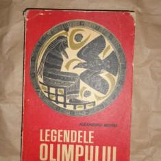 Legendele Olimpului zeii + eroii an 1965/514pag/ilustratii- Alexandru Mitru - Carte mitologie