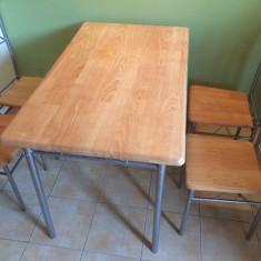 Masa + 4 scaune de bucatarie - aproape noi - Masa bucatarie