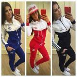 Trening adidas new young model nou 2016 - Trening dama Adidas, Marime: S, M, L, XL, XXL, Culoare: Bleumarin, Negru, Rosu, Bumbac