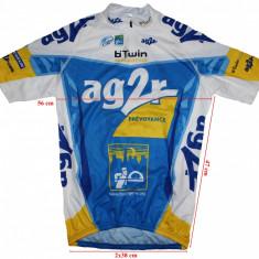 Tricou ciclism B'Twin, logo AG2R, barbati, marimea XXL, Tricouri