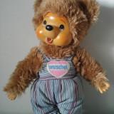 Jucarie plus mascota Monchhichi (kiki), urs/ ursulet maro, Wuschel, 28 cm, - Colectii