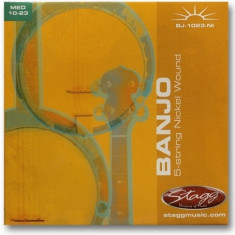 Set corzi nichel pentru banjo Stagg BJ-1023-NI