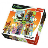 Puzzle 4 in 1, Zootopia