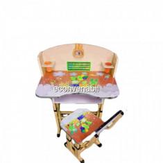 Birou Copii cu masuta, etajera si scaun KT0539 Portocaliu - Masuta/scaun copii