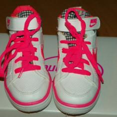 Ghete sport fetite - Nike - Ghete copii Nike, Marime: 27, Culoare: Alb