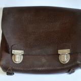 Geanta, servieta, ghiozdan vechi din piele naturala pentru scolari - Geanta vintage